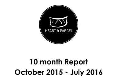 Heart & Parcel 10-Month Impact Report