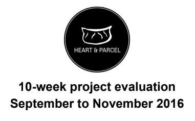 Heart & Parcel 10-Week Report
